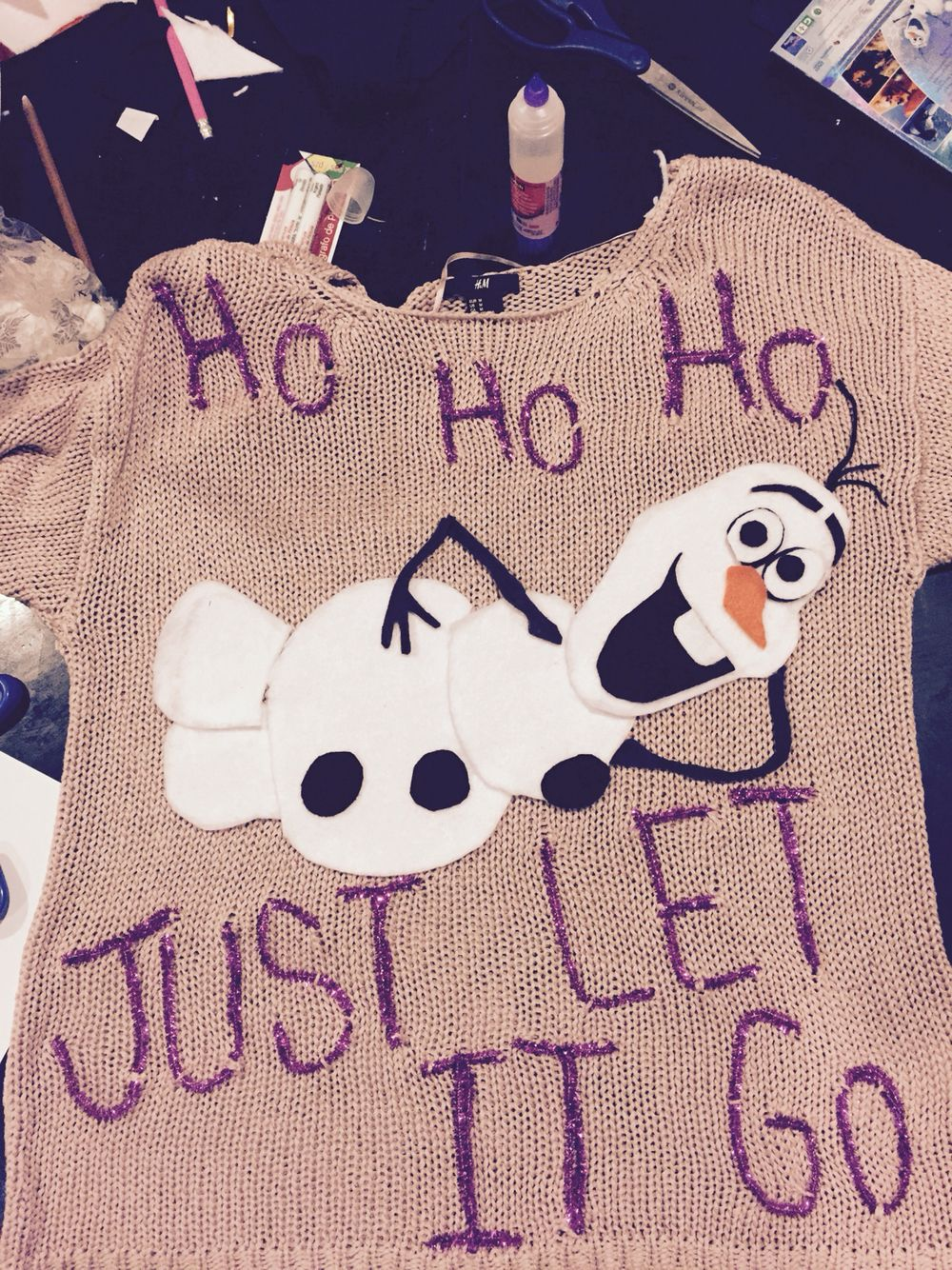 Homemade Olaf Ugly Christmas Sweater #Frozen #ChristmasSweater ...