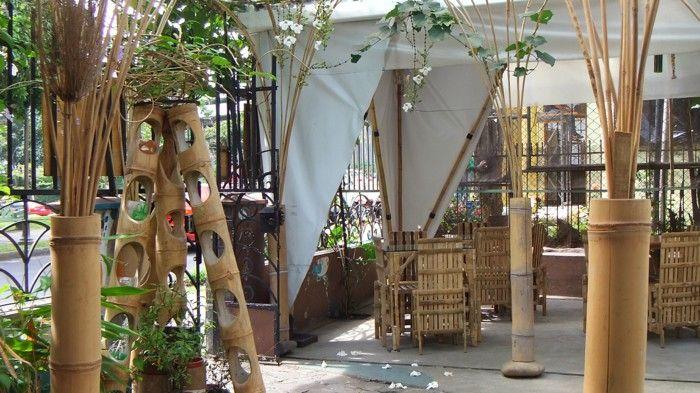 Garden Design Using Bamboo bamboo deco bamboo bars flower garden design ideas | 10
