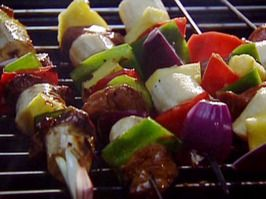 Lamb, Bell Pepper and Pineapple Kebabs