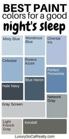 Paint Colors Bedroom//Bedroom Master//Bedroom Ideas//Bedroom Decor//Paint Color For Home//What are the best blue paint colors for a good night's sleep? by Joy Bender Luxury Real Estate Agent Compass San Diego REALTOR®️️️ #bedroomgoals #bedroomideas #bedroomdesign #bedroomdecor #paint #color