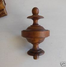 Best Antique French Newel Post Finial Cap Topper End Carved 400 x 300