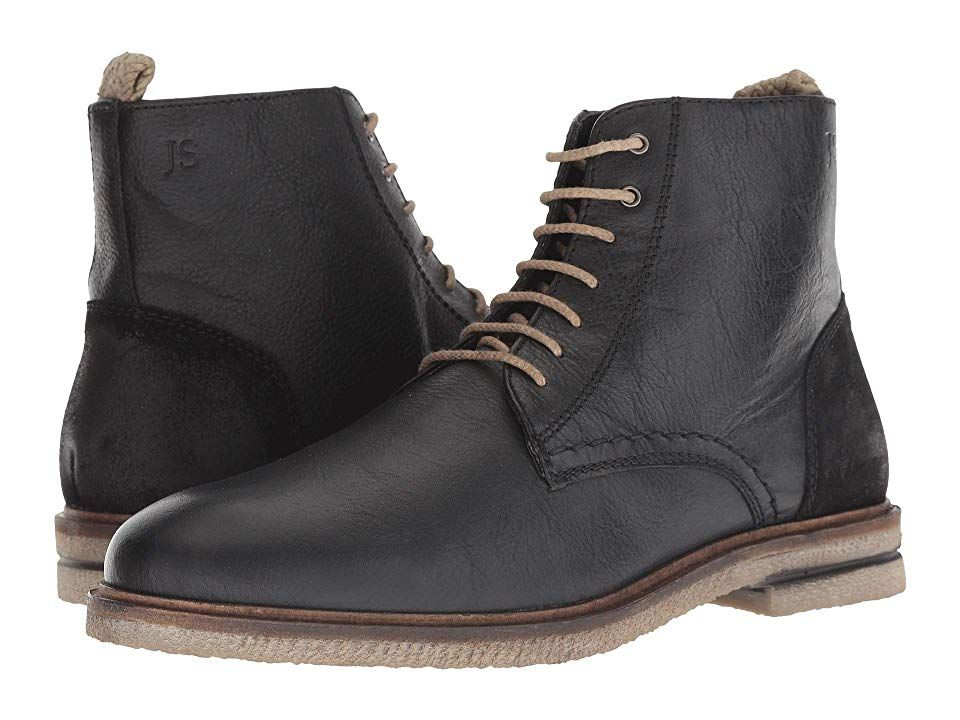 6f868c185f4 Josef Seibel Stanley 01 (Black) Men's Lace-up Boots. These handsome ...