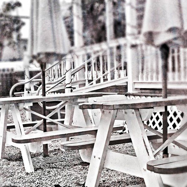 Key west picnic tables art print by mary pille photo taken at a popular ice cream shop in key west our prints are produced on acid free papers