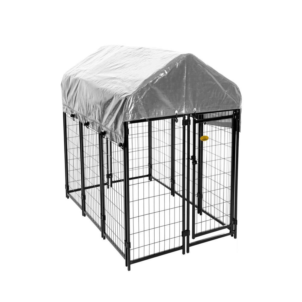 KennelMaster 6 ft. x 4 ft. x 6 ft. Welded Wire Dog Fence