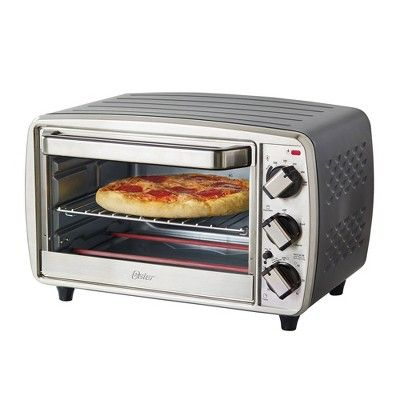 Oster 6 Slice Convection Toaster Oven Stainless Steel Size
