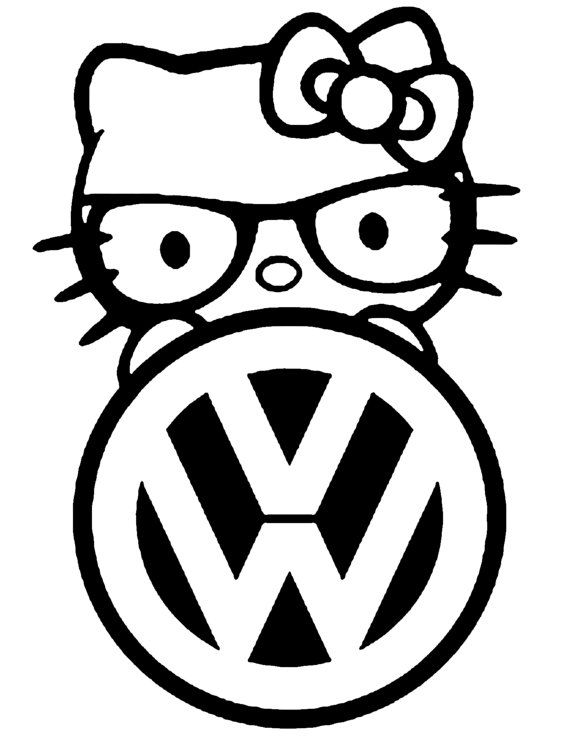 volkswagen Hello Kitty vinyl decal by SpecialtyDecals on