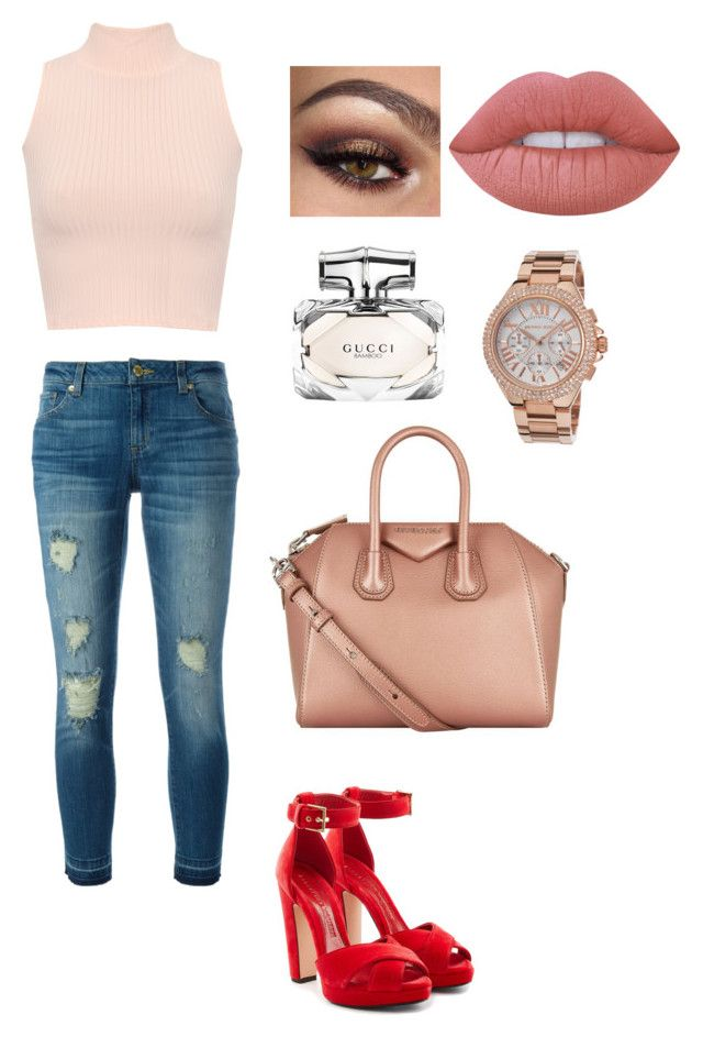 """""""cute ☺️"""" by giovanna-torres-1 on Polyvore featuring WearAll, Alexander McQueen, MICHAEL Michael Kors, Givenchy, Gucci, Lime Crime e Michael Kors"""