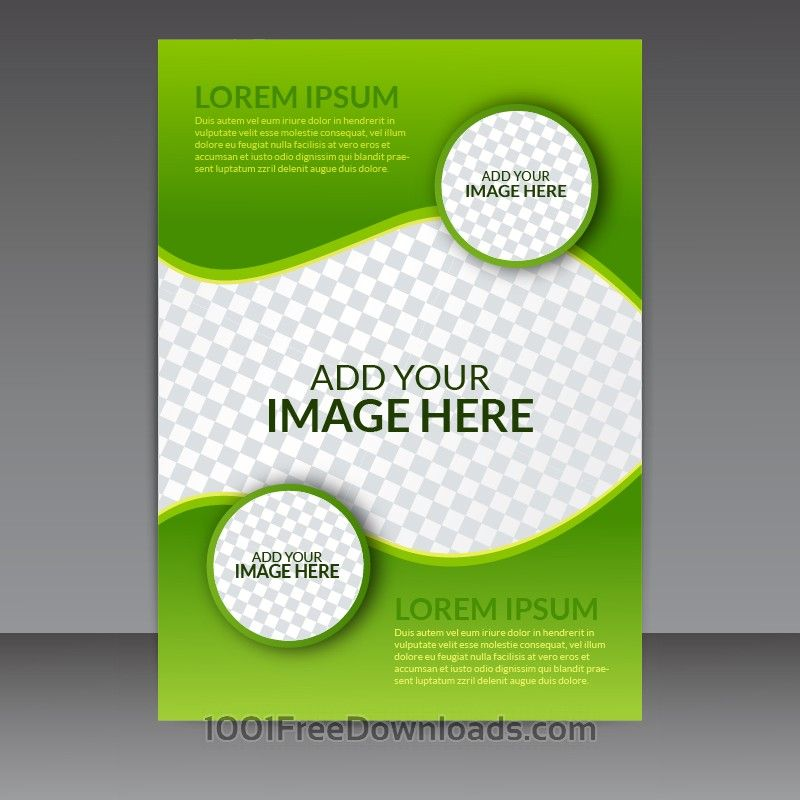 Free Vectors Green Business Vector Flyer Template  Abstract
