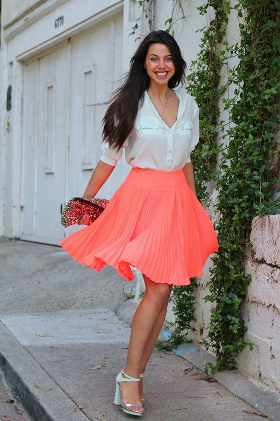 886277bf4 Le Calico: Como Usar Faldas Plisadas | vestuario | Faldas plisadas ...