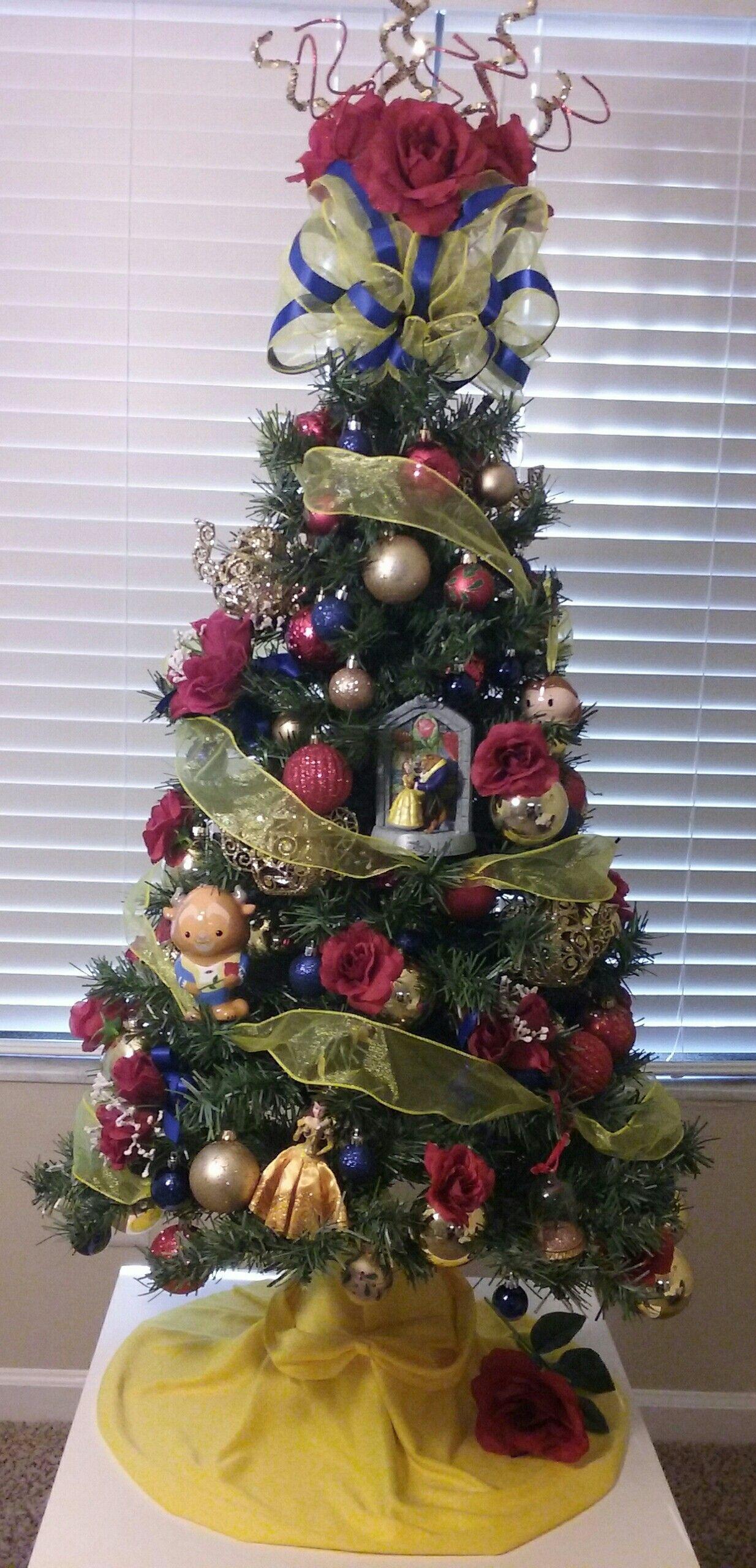 Disney tree ornaments - Beauty And The Beast Christmas Tree