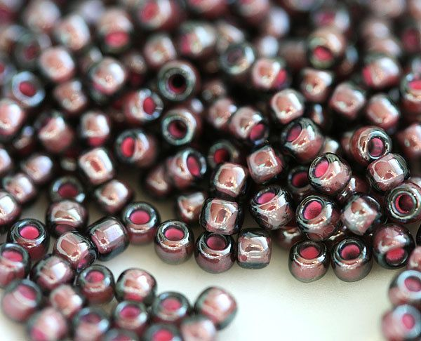 silverlined dark amethyst 11//0 seed beads 10g approx 1100 Japanese Toho frosted