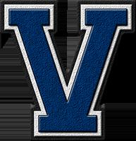 Presentation Alphabets Royal Blue Varsity Letter V Varsity Letter Letter V Varsity