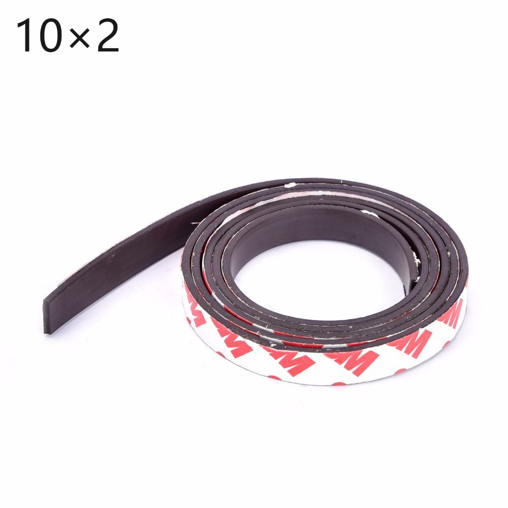 Free Shipping 1meters Self Adhesive Flexible Magnetic Strip 1m Rubber Magnet Tape Width 10mm Thickness 2mm Rubber Magnet Magnetic Strip Magnetic Material