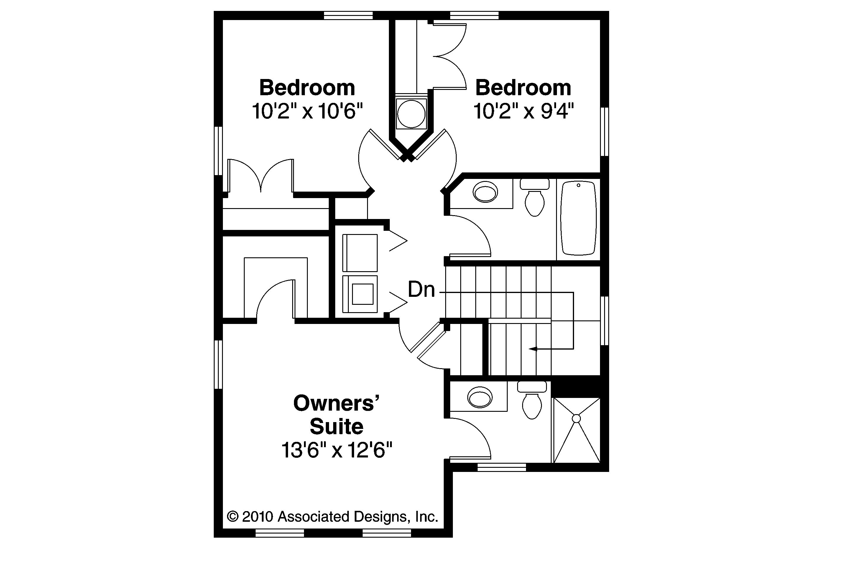 3 Bedroom Home Plans Designs Floor Plans Cottage House Emerson Endearing Second Designs And