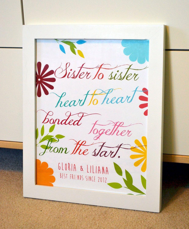Secret Sister Gift - Sister to sister, heart to heart ...