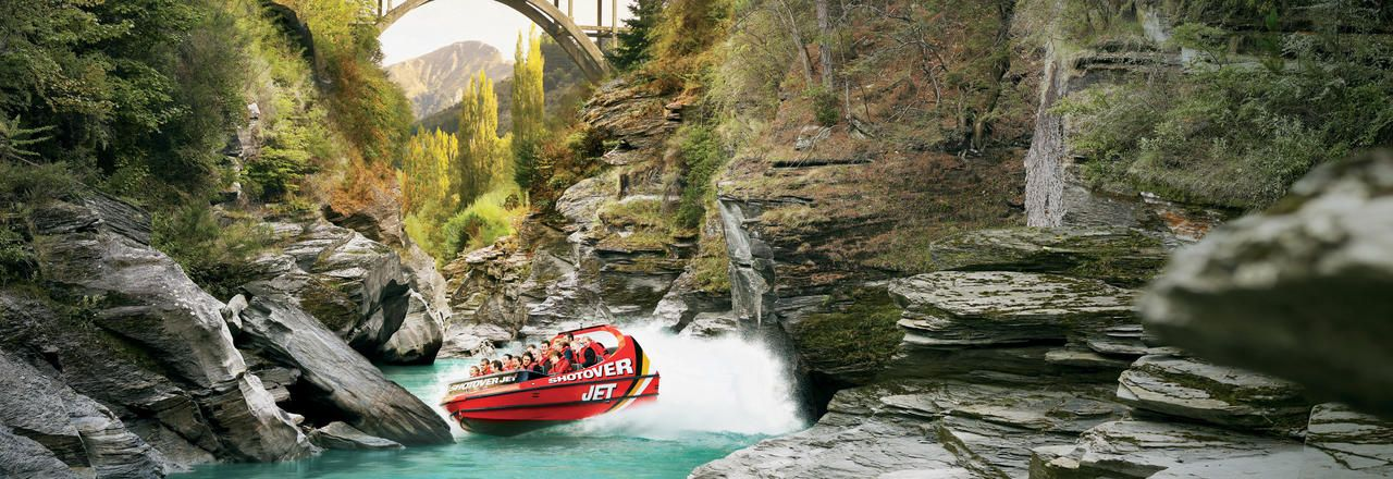 Shotover Jet Adventure in Queenstown The stunning lakeside