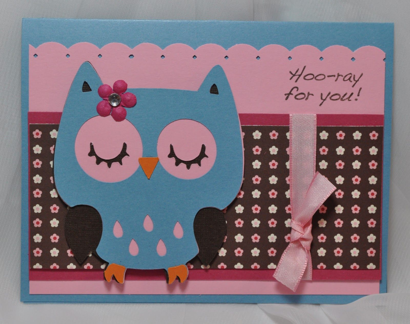 Nice Card Making Ideas With Cricut Part - 12: Cricut Card Idea.. With A Different Little Character On Front!
