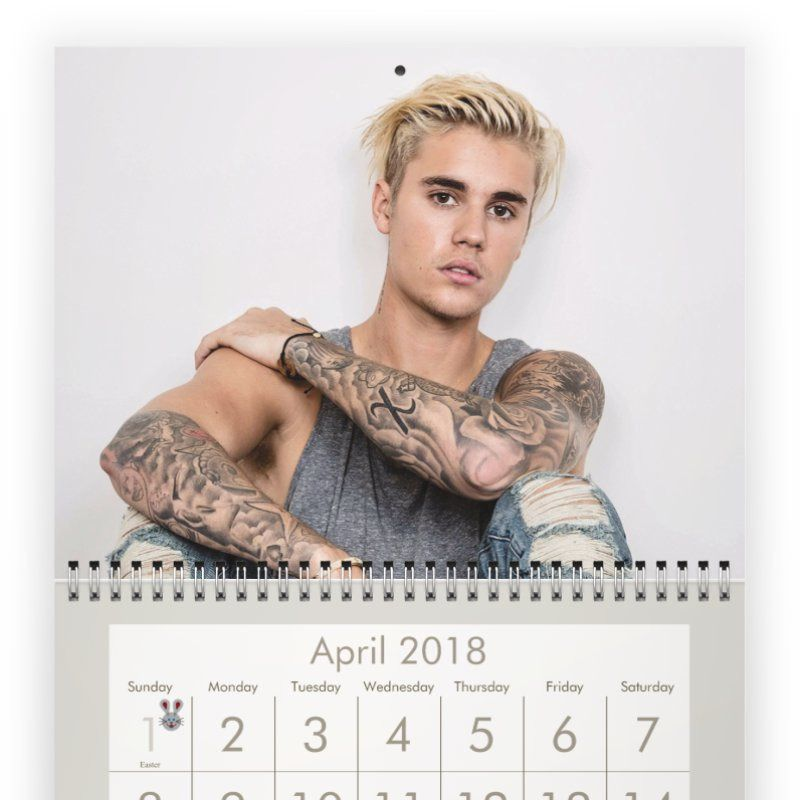 justin bieber 2018 2018 calendars pinterest justin