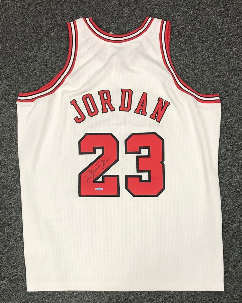 c7060a5b4f9 Michael Jordan  23 Signed Bulls Mitchell   Ness Jersey AUTO Sz 2XL UDA COA  + BOX  michaeljordan  autographs