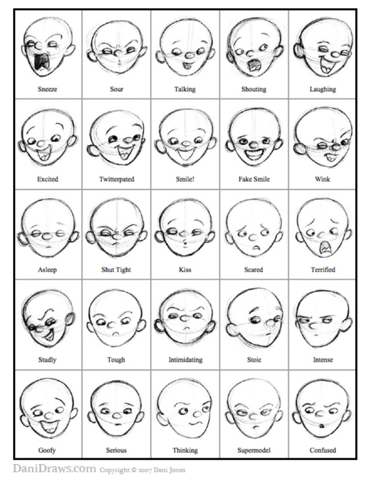 Character Design References Pdf : Http danidraws media facialexpressions pdf