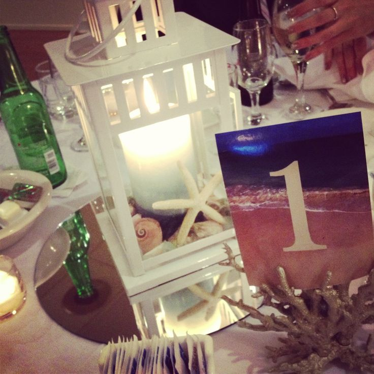 Pinterest Beach Wedding Centerpieces Diy Beach Lantern