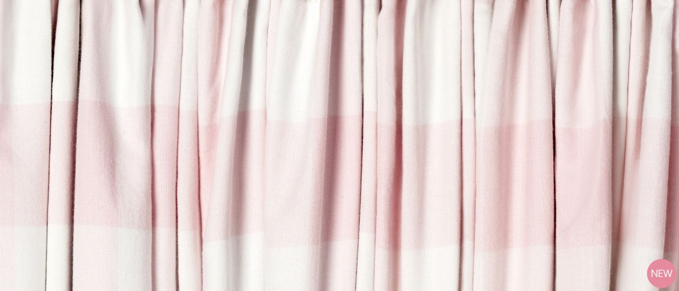 Oxford Check Pink Ready Made Curtains