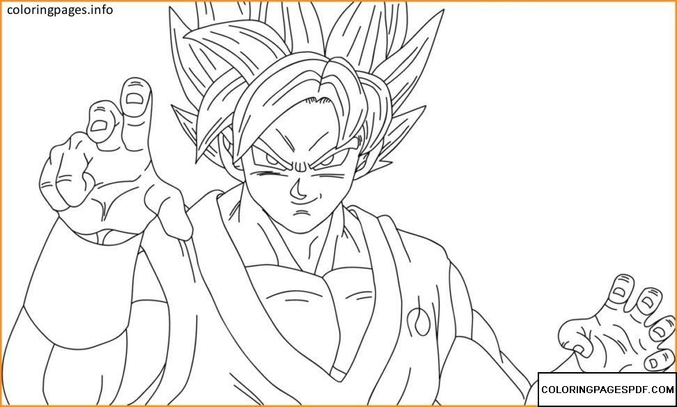 GOKU Coloring Pages {PDF} Free coloring pages at