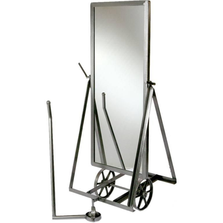 Steel Mirror on Wheels | Mirror floor, Floor mirror and Modern floor ...