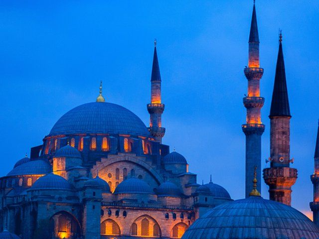 Blue mosque at dusk istanbul turkey cultura limited - Taj mahal screensaver free download ...
