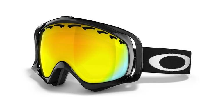bfb89086b4dc Crowbar Snow Jet Black   Fire Iridium or HI Yellow Oakley Sunglasses
