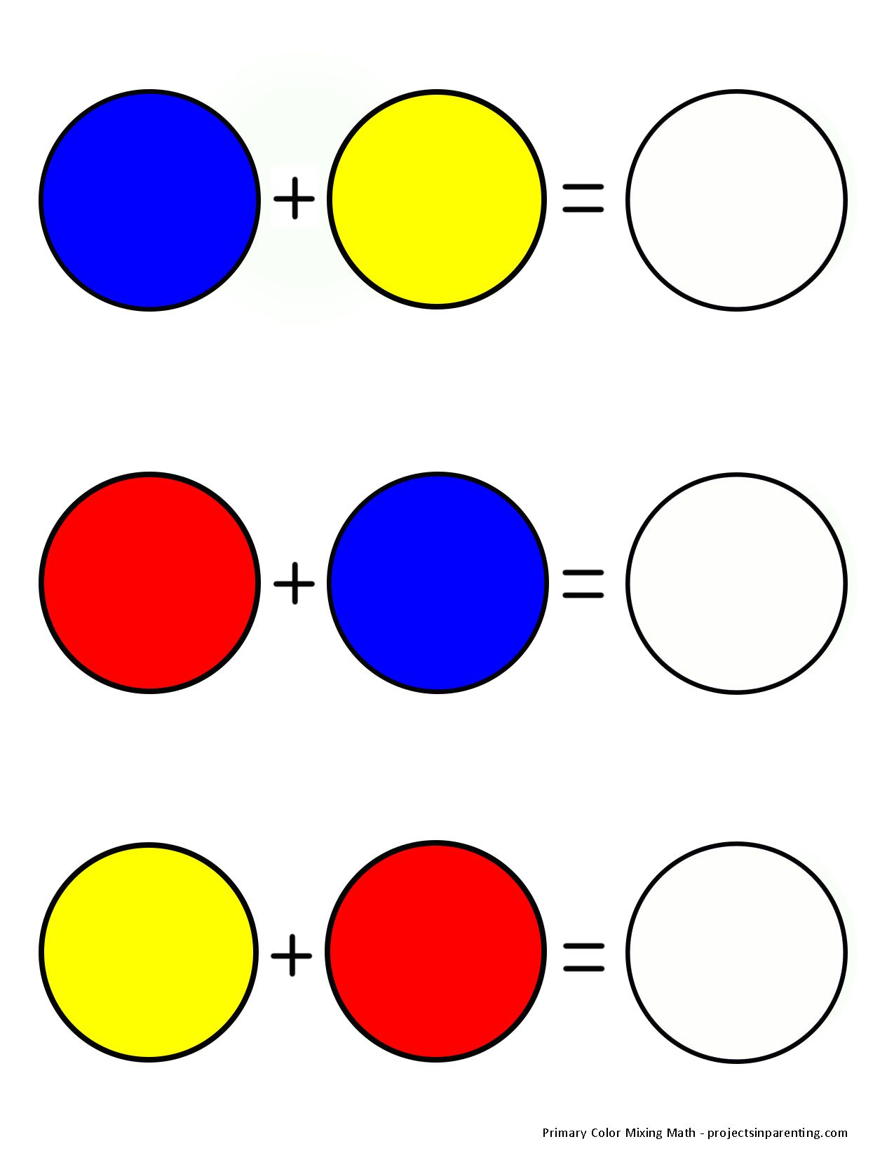 Color Math Free Printable Preschool And Toddler Color Mixing Activity Projectsinparenting Com Kindergarten Worksheets Colors Worksheets Color Mixing Color mixing worksheet preschool