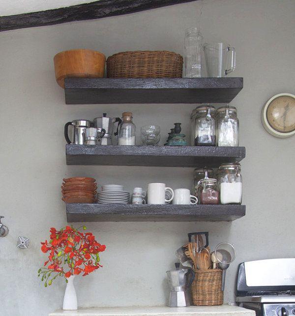 Küchenzubehör Als Dekoration Holz Regale Massiv Ausstellung