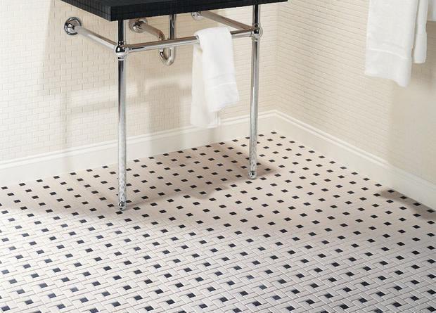 white bathroom tiles