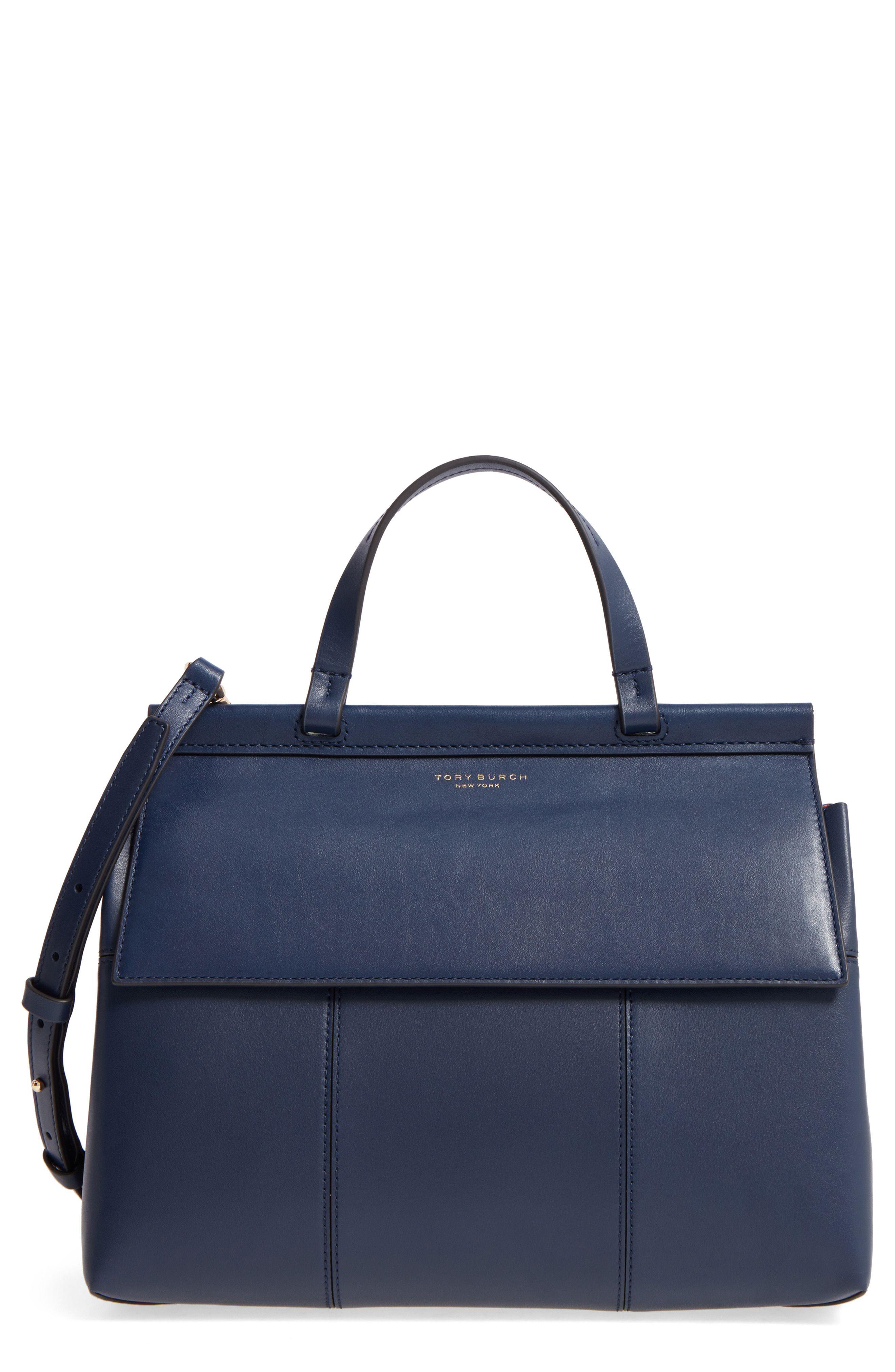 9b6f7bc3b13d Block T Leather Top Handle Satchel