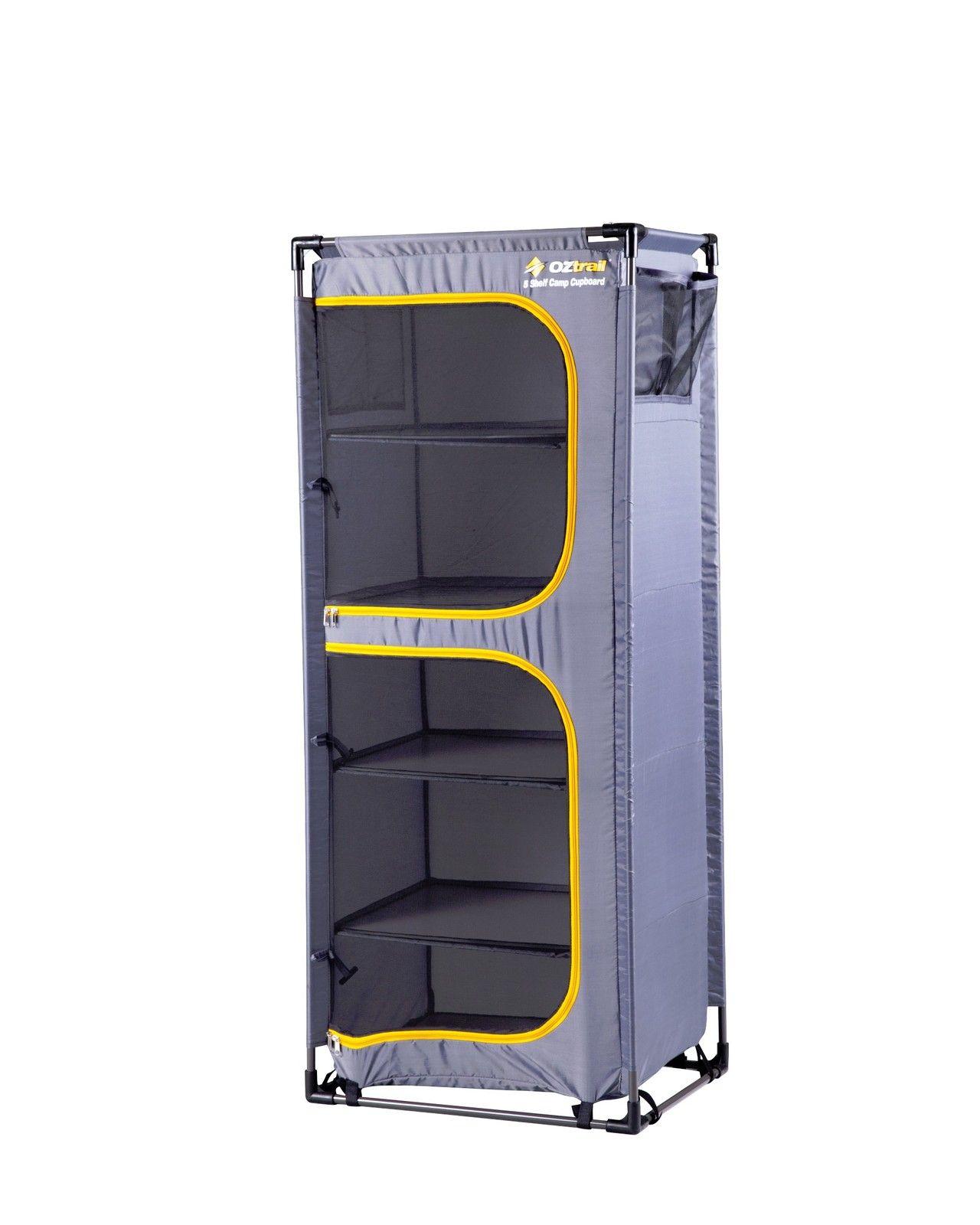 Oztrail 5 Shelf Camp Cupboard Camping Storage Locker Storage Storage