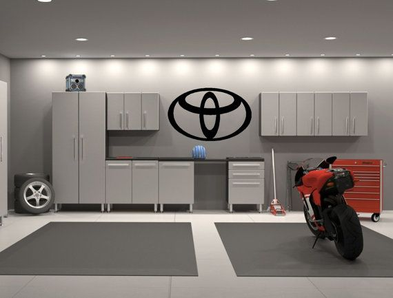 Toyota Trd Embleem Garage Decor Interieur Wand Door