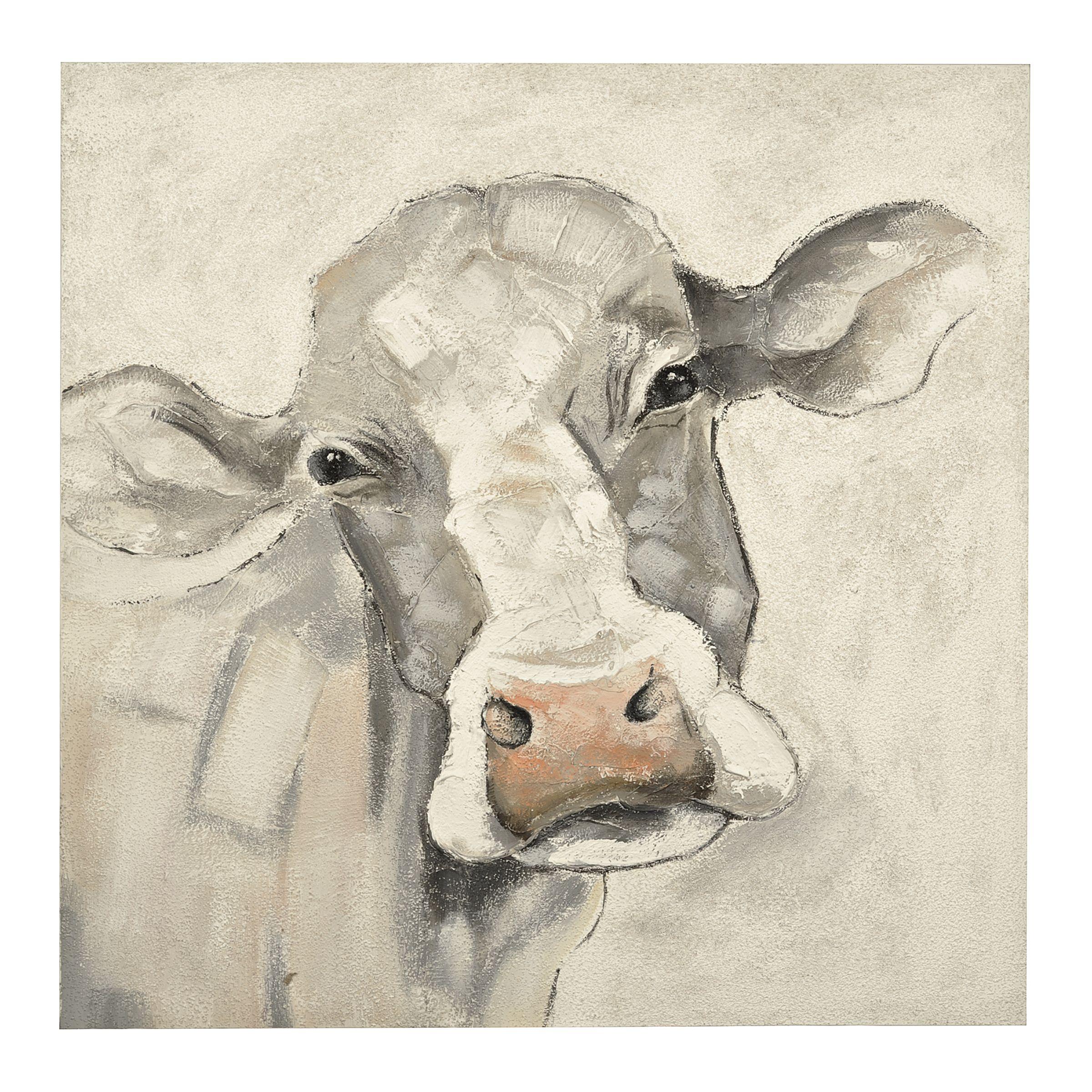 Mischievous Cow Canvas Art Print Cow Canvas Cow Art Canvas Art