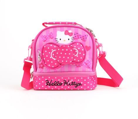ba3dd25311 Hello Kitty Lunch Bag with Container  Pink Bow