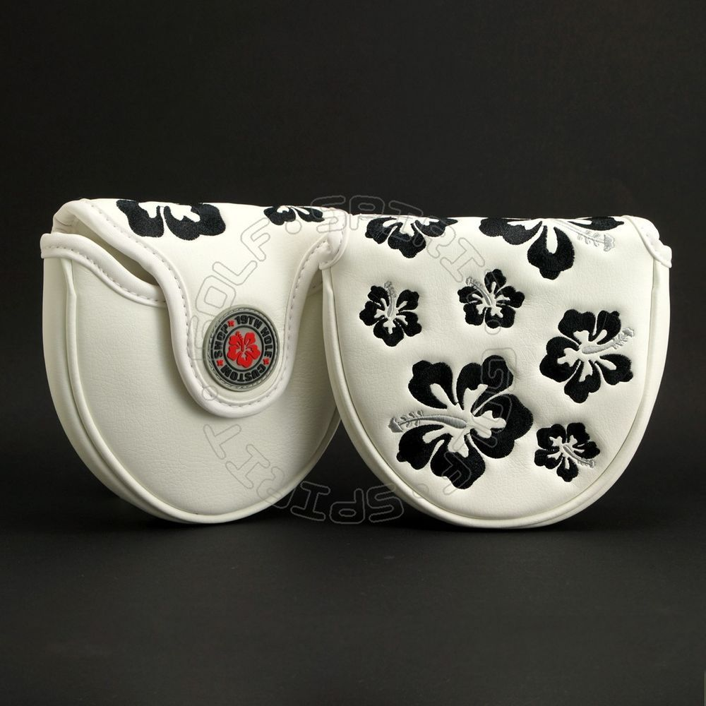 Hibiscus Head Cover for Scotty Cameron Mallet Putter, X7 X5