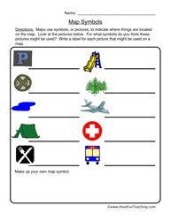 map symbols worksheet for the 1st grade kiddos map worksheets social studies worksheets. Black Bedroom Furniture Sets. Home Design Ideas