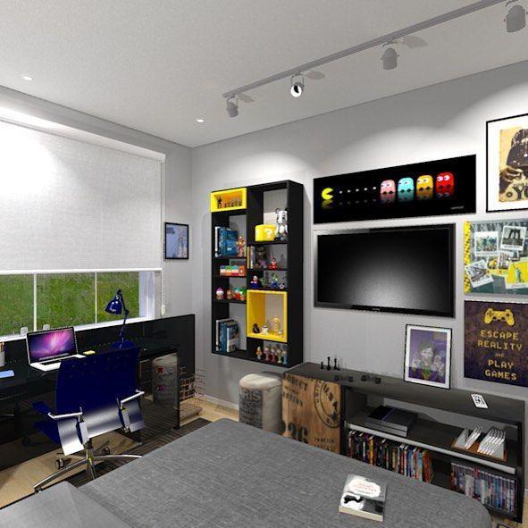 60 Salas Com Sofá Vermelho Incríveis: Quarto Gamer: 60 Ideias E Dicas Incríveis Para Decorar