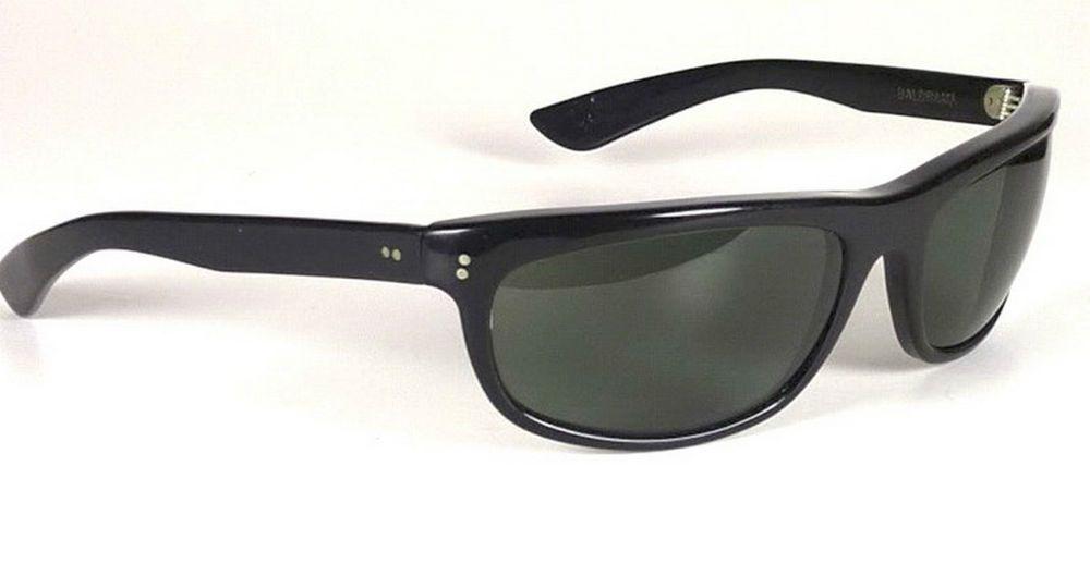 b4bcb03480 Ray Ban Balorama Sunglasses Vintage Black Wrap Eastwood B L 60s Unisex  glasses