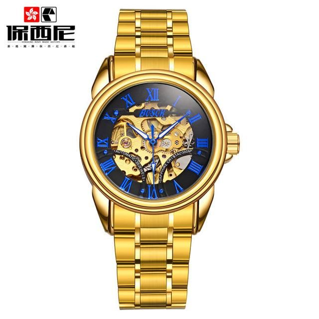 01212d96030 BOSCK New Mens Automatic Mechanical Watch Tourbillon Male Skeleton Wrist  Watches Stainless Steel Wristwatches Relojes Mecanicos