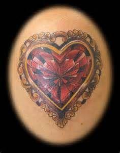 057493e20 Heart Shaped Diamond Tattoo - Bing Images   INK   Jewelry tattoo ...