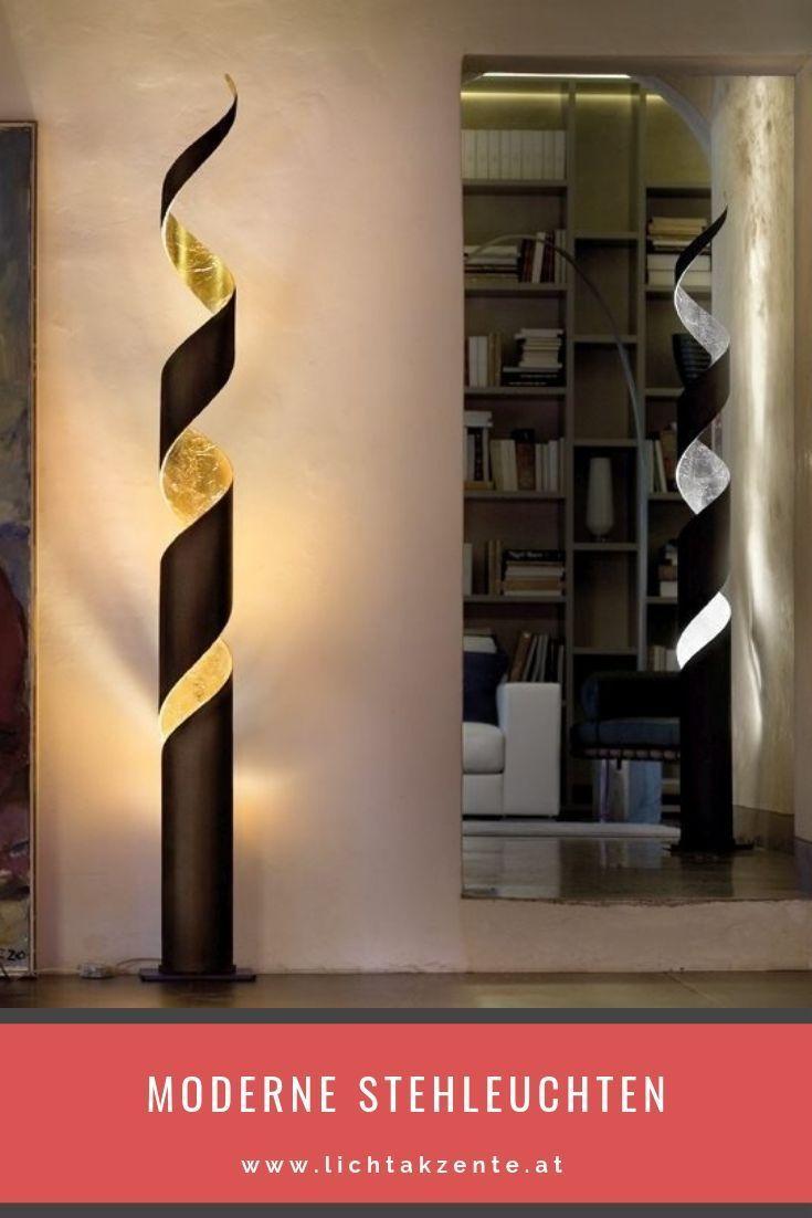 Wohnzimmer Stehlampe in gold oder silber - Home Decoraiton