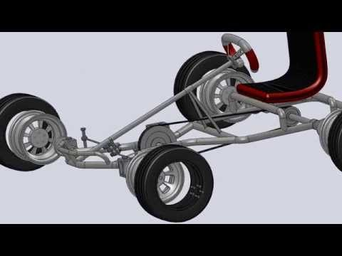 Pedal Go Kart 3D - SolidWorks - YouTube | pedal cars | Pinterest ...