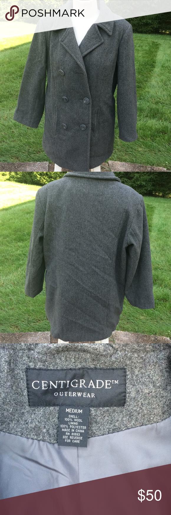 Centigrade Outerwear Medium Gray Coat 100 Wool Grey Coat Outerwear Clothes Design [ 1740 x 580 Pixel ]