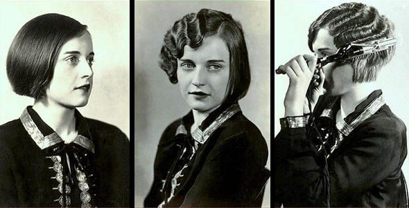 1920s Finger Waves. I'm enjoying these older tutorial pics, although my great grandmother taught me how to do it with my bangs using bobby pins going in different directions (the easy way out).