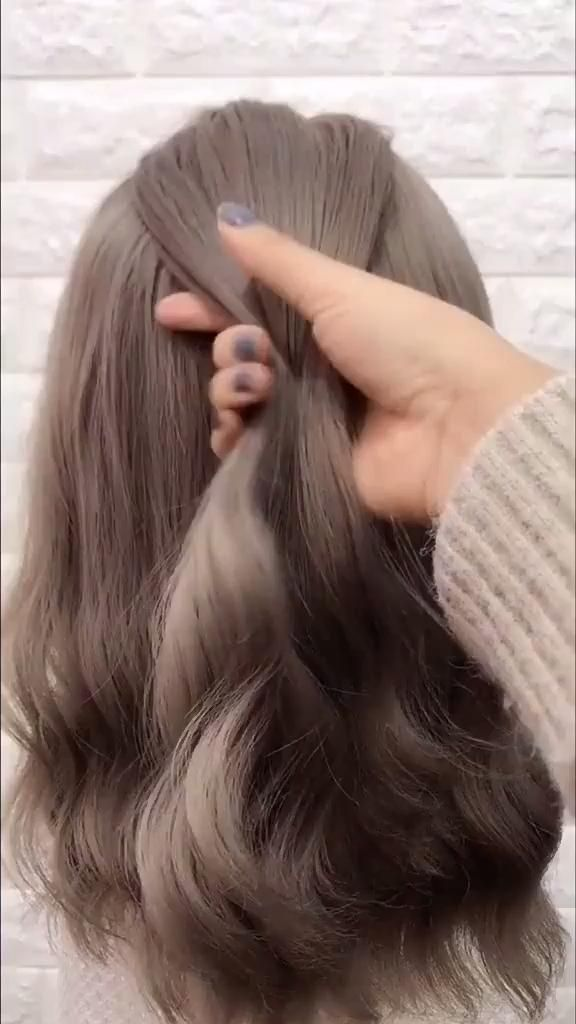 Burgundy Color Wavy Hair