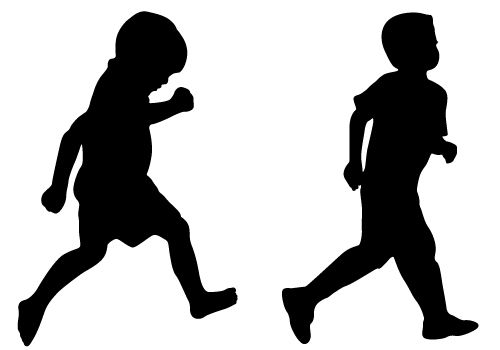 Kids Silhouette Png